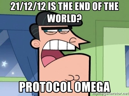 Dinkleberg - 21/12/12 is the end of the world? protocol omega