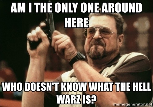 Walter Sobchak with gun - Am I the only one around here Who doesn't know what the hell warz is?