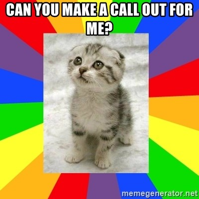 Cute Kitten - can you make a call out for me?