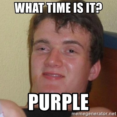 Stoner Stanley - What time is it? purple