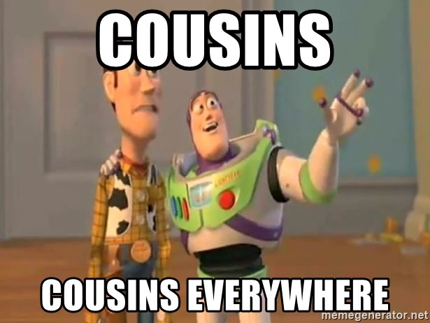 X, X Everywhere  - Cousins cousins everywhere