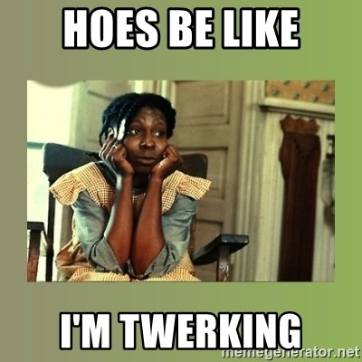 hoes be like im twerking hoes be like meme generator