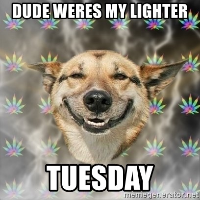 Stoner Dog - Dude weres my lighter  tuesday