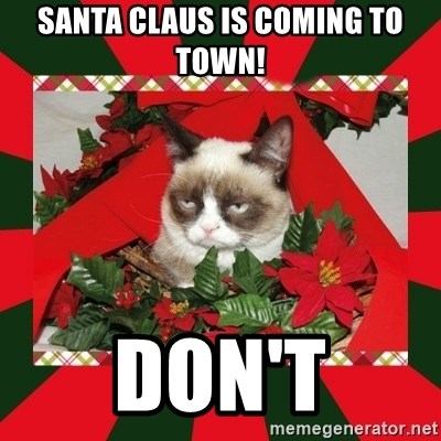 GRUMPY CAT ON CHRISTMAS - Santa Claus is coming to town! DON'T