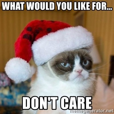 Grumpy Cat Santa Hat - what would you like for... Don't care