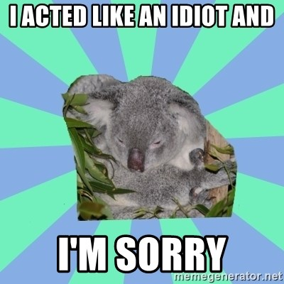 Clinically Depressed Koala - I acted like an idiot and I'm sorry