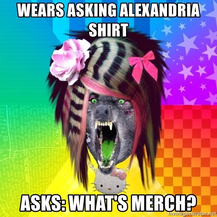 Insanity Scene Wolf - WEARS ASKING ALEXANDRIA SHIRT aSKS: WHAT'S MERCH?