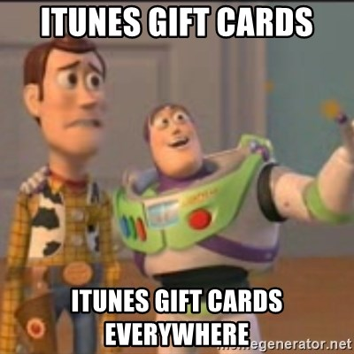 Buzz - iTunes gift cards iTunes gift cards everywhere