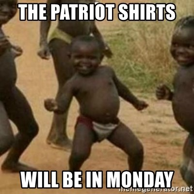 Black Kid - THE PATRIOT SHIRTS  WILL BE IN MONDAY