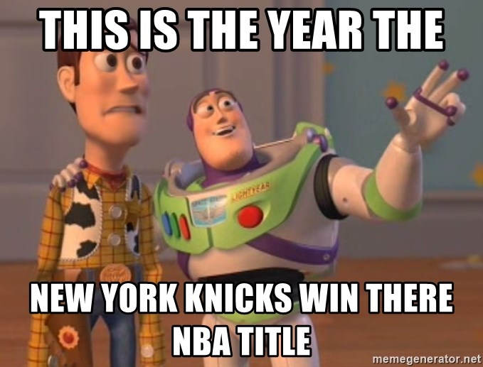Tseverywhere - THIS IS THE YEAR THE NEW YORK KNICKS WIN THERE NBA TITLE