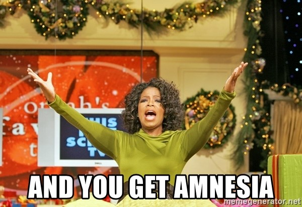 Oprah Gives Away Stuff - And you get amnesia