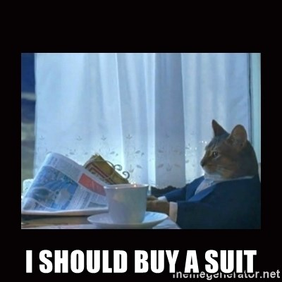 i should buy a boat cat - I should buy a suit