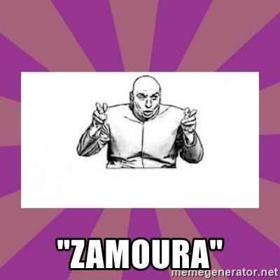 """'dr. evil' air quote - """"Zamoura"""""""