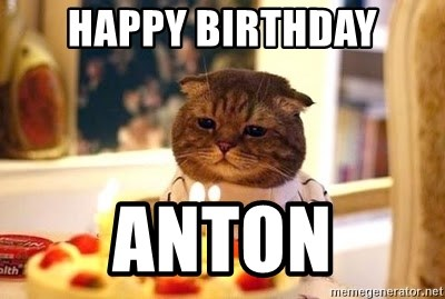 Birthday Cat - Happy Birthday Anton