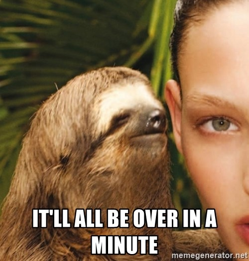 The Rape Sloth - it'll all be over in a minute