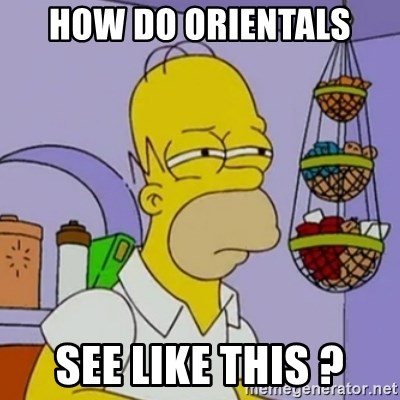 Simpsons' Homer - how do orientals see like this ?