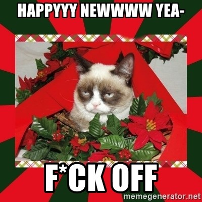 GRUMPY CAT ON CHRISTMAS - Happyyy Newwww yea- f*ck off
