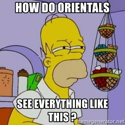 Simpsons' Homer - how do orientals see everything like this ?