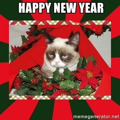 GRUMPY CAT ON CHRISTMAS -  happy new year