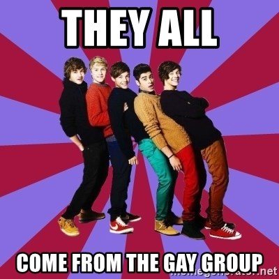 typical 1D - THEY ALL COME FROM THE GAY GROUP