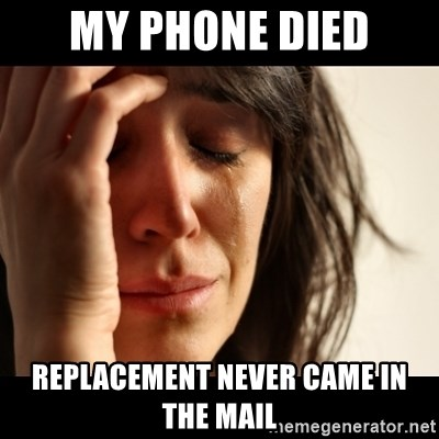 crying girl sad - My phone died replacement never came in the mail
