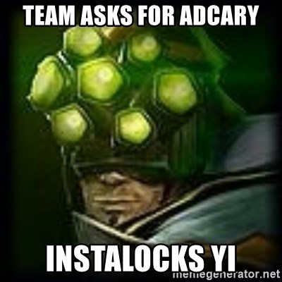 Master Yi - TEAM ASKS FOR ADCARY iNSTALOCKS YI