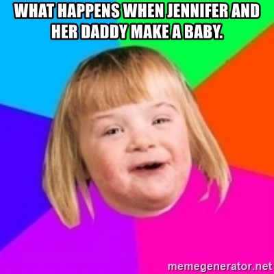 I can count to potato - What happens when Jennifer and her Daddy make a baby.