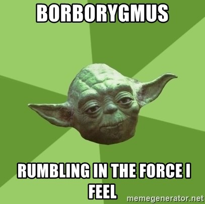 Advice Yoda Gives - Borborygmus  RUMBLING IN THE FORCE I FEEL