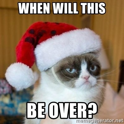 Grumpy Cat Santa Hat - WHEN WILL THIS BE OVER?