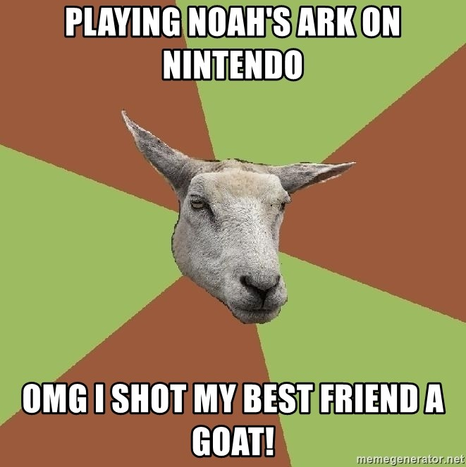 The Gamer Sheep - playing noah's ark on nintendo omg i shot my best friend a goat!