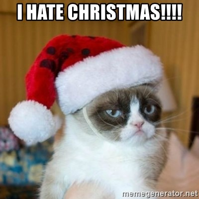 Grumpy Cat Santa Hat - I HATE CHRISTMAS!!!!