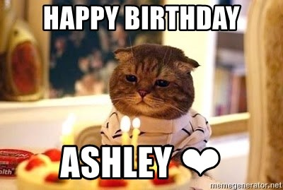 Birthday Cat - HAPPY BIRTHDAY ASHLEY ❤