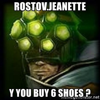 Master Yi - Rostov.Jeanette Y You buy 6 shoes ?