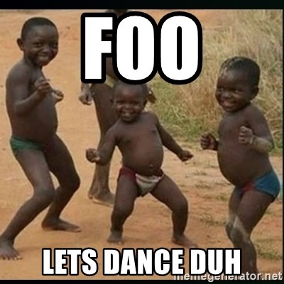 Dancing black kid - foo lets dance duh