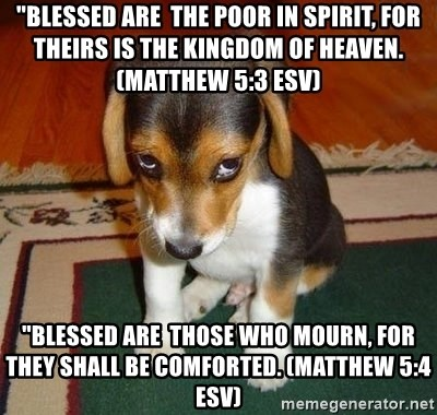 Blessed are the poor in spirit, for theirs is the kingdom of