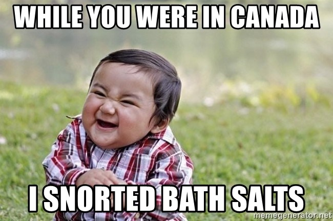 evil asian plotting baby - While you were in Canada I snorted bath salts