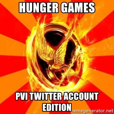 Typical fan of the hunger games - Hunger games Pvi twitter account edition