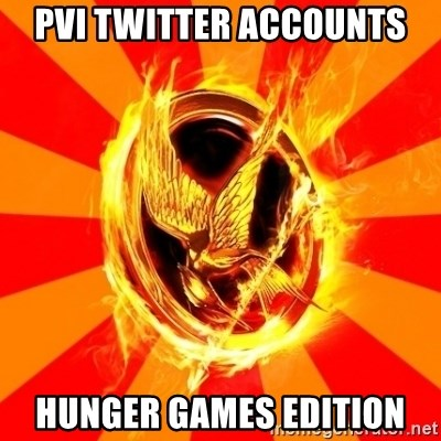 Typical fan of the hunger games - PVI twitter accounts hunger games edition