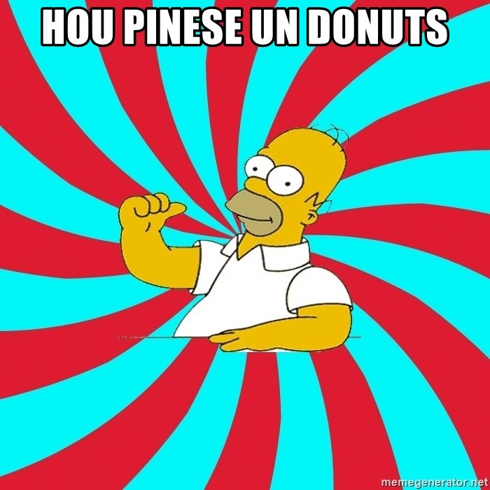 Frases Homero Simpson - HOU PINESE UN DONUTS