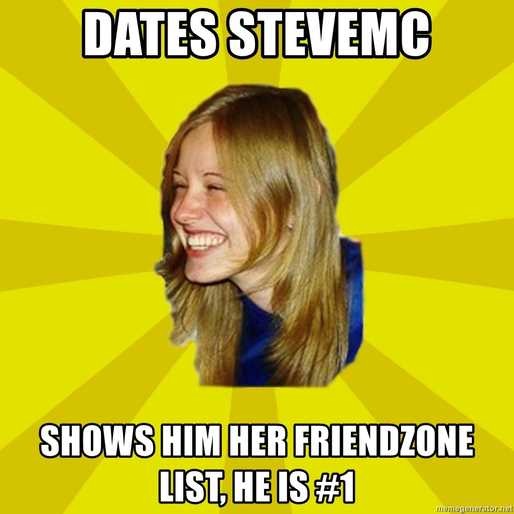Trologirl - DATES STEVEMC SHOWS HIM HER FRIENDZONE LIST, HE IS #1
