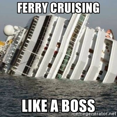 Sunk Cruise Ship - ferry cruising like a boss