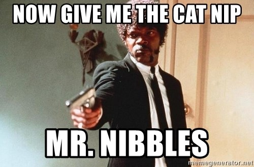 I double dare you - NOW GIVE ME THE CAT NIP MR. NIBBLES