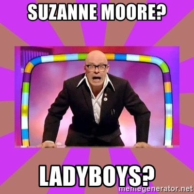 Harry Hill Fight - SUZANNE MOORE? LADYBOYS?