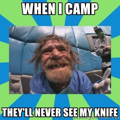hurting henry - when i camp they'll never see my knife
