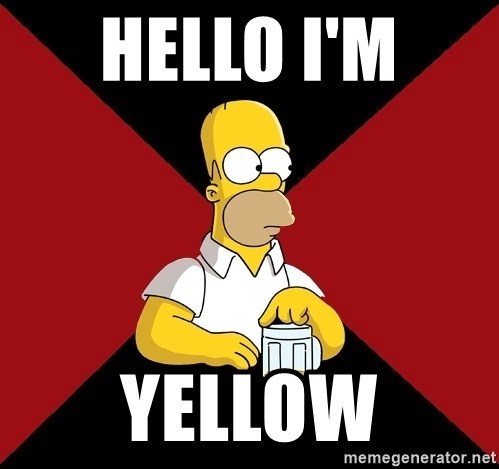 Homer Jay Simpson - HELLO I'M  YELLOW