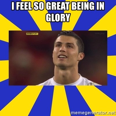 CRISTIANO RONALDO INYUSTISIA - I FEEL SO GREAT BEING IN GLORY
