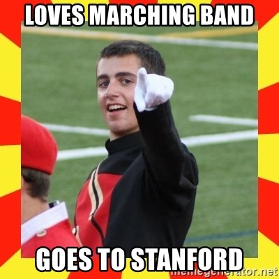 lovett - loves marching band goes to stanford