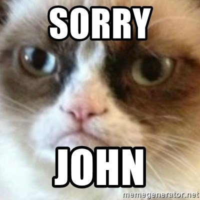 angry cat asshole - Sorry  John