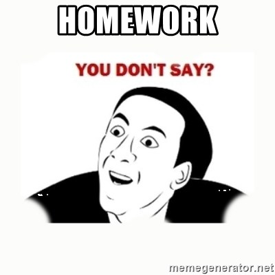 you dont say - homework