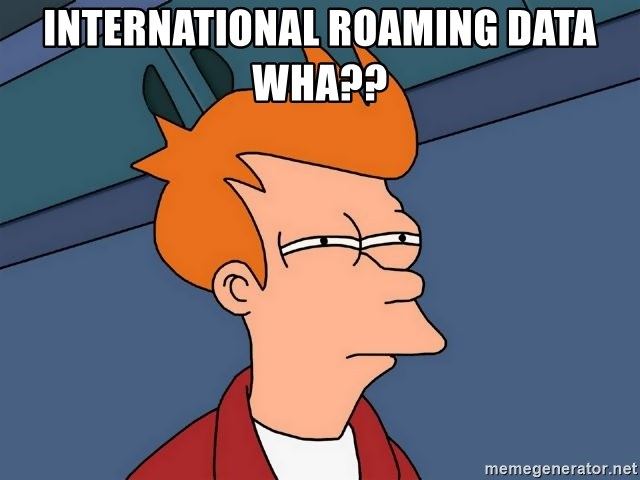 Futurama Fry - International Roaming data wha??